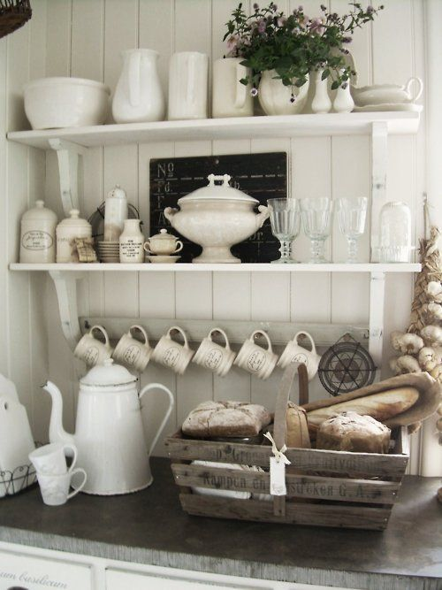 rustic country farmhouse kitchen idea ideas dishes cupboard buffet country deco decorating shop rom ideas - Country Farmhouse Decorating Ideas