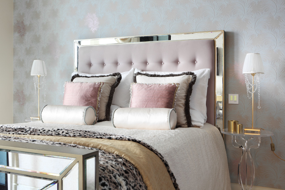 Contemporary Bedroom Metallic Pink How To Decorate Feminine Girly Adult  Princess Theme Bedroom Metallic Bedding