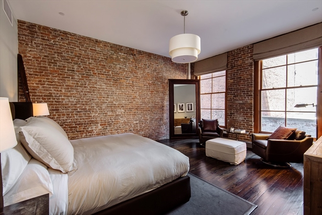 industrial modern manhattan soho new york loft condo facebook co founder 8.75 million shop room ideas brick wall design idea mark zuckerberg house
