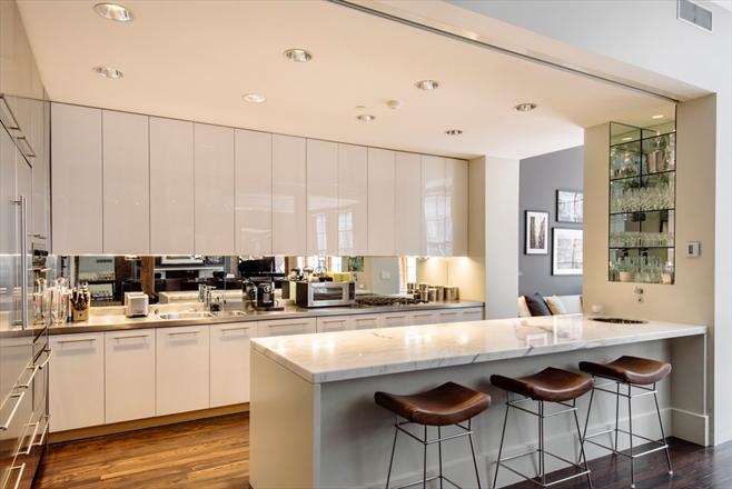 industrial modern new york kitchen loft condo soho 8.75 million facebook co founder real estate shop room ideas interior design decorating pinterest white kitchen idea