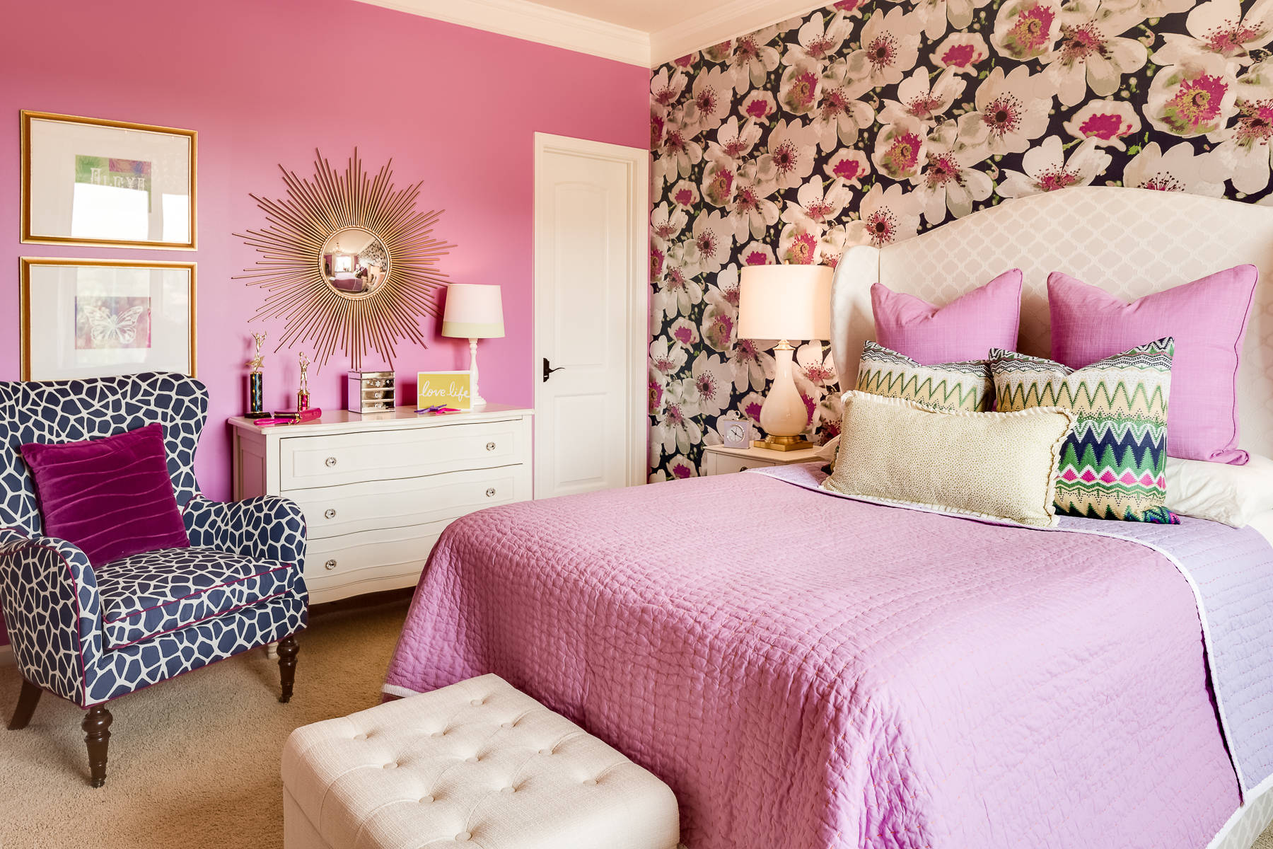 pink girly feminine bedroom pink walls decor pink bedding pillows teenage 3 steps how to decorate shop room ideas traditional eclectic pinterest