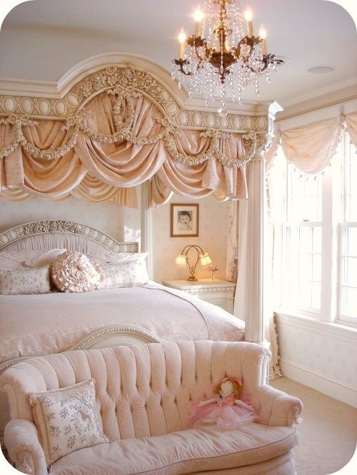 Versailles Bedroom Princess Luxury Bedroom Idea Nude Pink Bush Peach Color  Palette Celebrity Home Shop Room