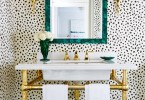 cheetah leopard print powder room black and white gold washroom vanity sink ideas luxury decor home black ceiling paint wallpaper diy shop room ideas black and white tiles design pinterest decor