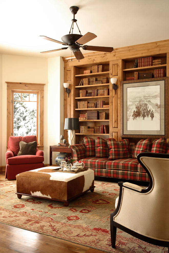 3 amazing ways to decorate with plaid shoproomideas for Red and brown living room furniture