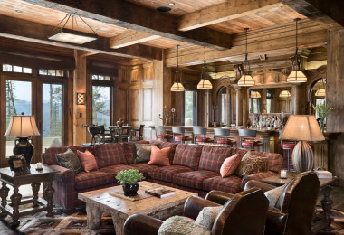 solid wood wall panels oak pine stain project red plaid l section couch idea fall decor design how to decorate with plaid fabric christmas family room shop room ideas locati architects