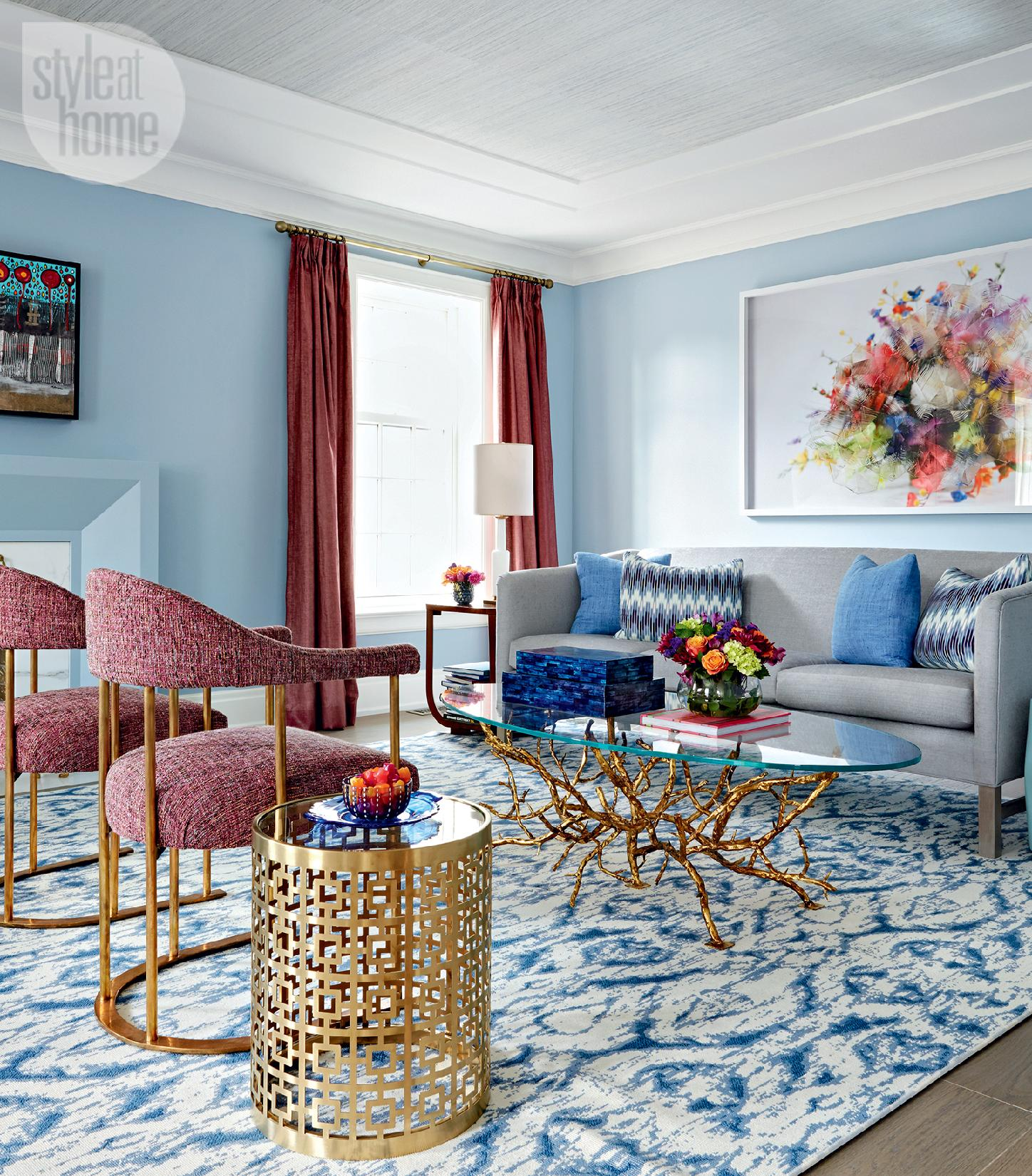 Blue Room: How To Decorate With Patterns: 3 Major Secrets