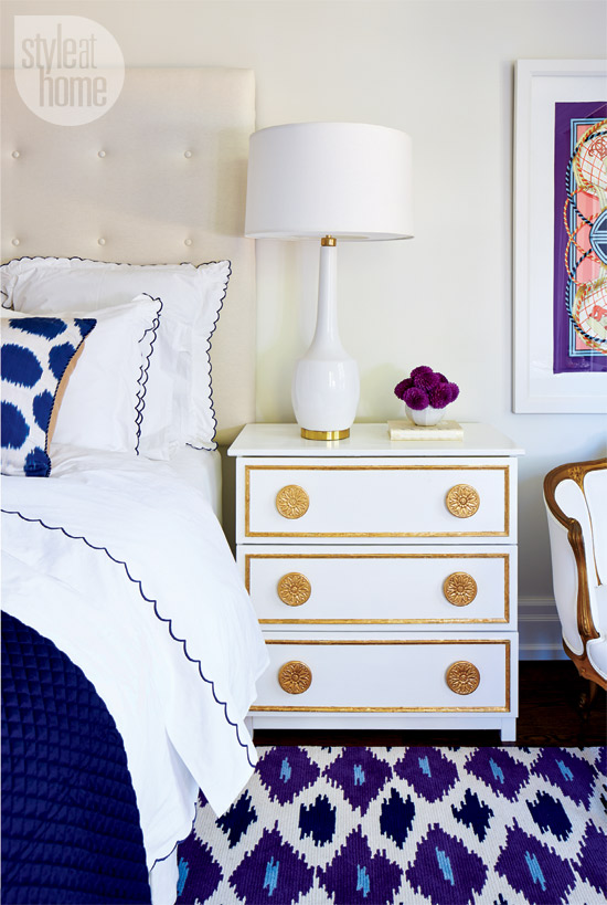 Decorating With Patterns Eclectic Hollywood Purple And Blue Bedroom Leopard Print Bedding Ideas Pinterest Decor Diy Gold White Nightstand Tufted Headboard Shop Room Ideas