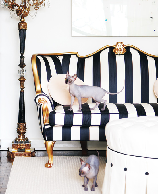 old-hollywood-sofa how to decorating with patterns black and white stripe couch easy pinterest diy decor dream home flooring design ideas shop room ideas