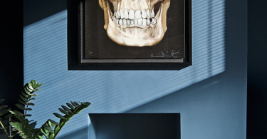 sheepskin stool skull painting decor blue dark living room pinterest inspired zebra rug faux fur furniture shop room ideas