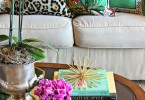 colorfulpalmtreepineappleresortdecorlivingroomcoffeetabledesignhowtoarrangepillows-shop-room-ideasleopardfloralprint