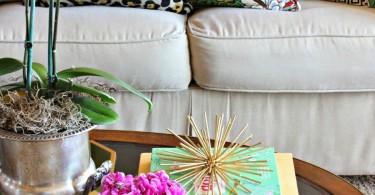 colorfulpalmtreepineappleresortdecorlivingroomcoffeetabledesignhowtoarrangepillows-shop-room-ideasleopardfloralprint