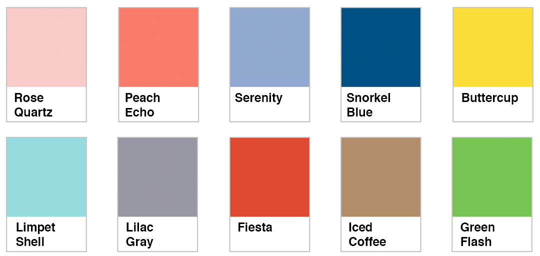Pantone 2016 Color Trends