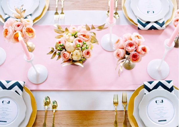 black white chevron table setting tableware tablescape pink girly theme pinterest inspiration wedding shower bridal shop  sc 1 st  Shop Room Ideas & 10 Gorgeous Table Setting Ideas + How To Set Your Table - shoproomideas