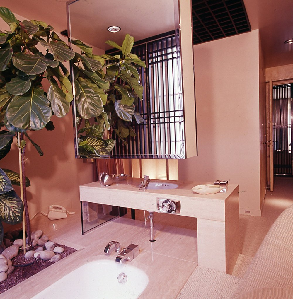 1975 Floating Medicine Chest Art Deco Interior Designer Bathroom