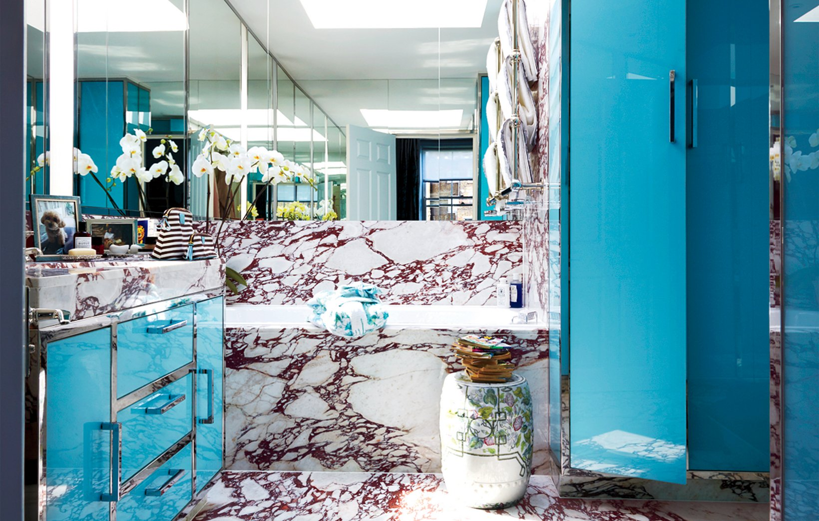 marble and chrome vintage blue serenity washroom master bath powder room cupboards vanity blue serenity pantone 2016 colours shop room ideas celebrity home pinterest tiles reno before and after