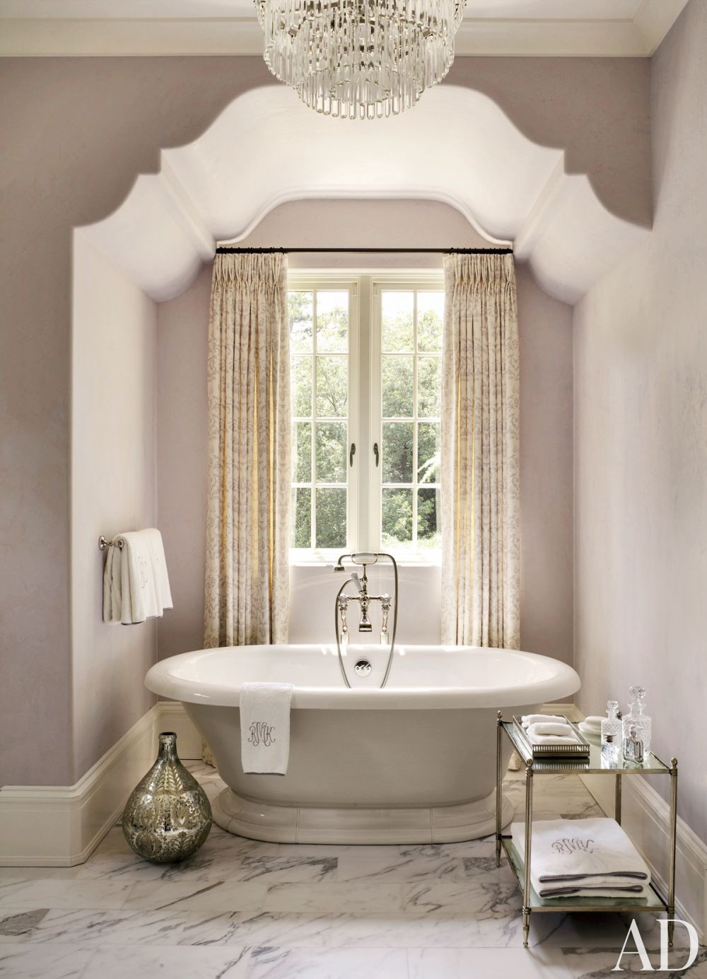 mauve bathroom light purple violet girly feminine ceiling design traditional bathtub marble tiles ideas inspiration small shop room ideas yellow curtains window victorian tub fittings