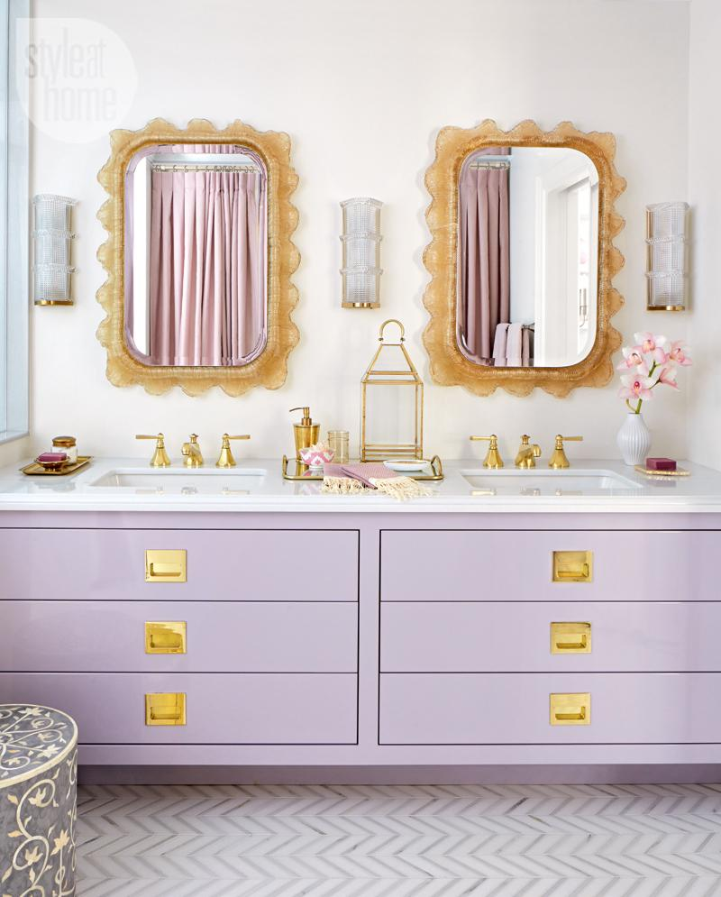 How to keep your bathroom looking new forever shoproomideas Purple and gold bathroom accessories