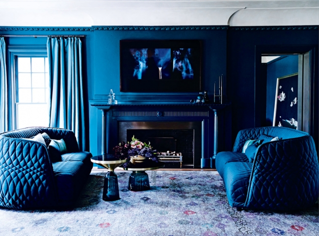 quilted velvet navy blue sea turquise sofa couches setting design style ideas moody pinterest inspiration curtains georgian mansion shop room ideas