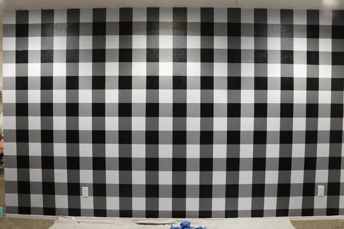 Black and white buffalo plaid wallpaper joy studio for Cheap white wallpaper