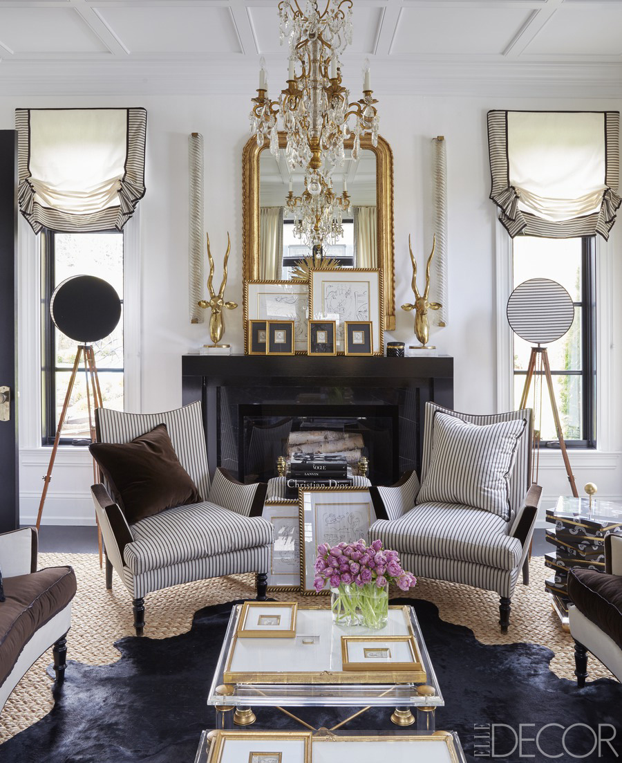 elle decor living rooms. waffle ceiling traditional fireplace mantle mantel gold gilded gilt mirror  ideas side windows georgian home black Elle Decor Top 10 Most Gorgeous Living Spaces Featuring STUNNING Mirrors