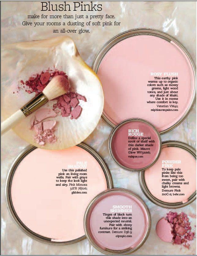 blush pink home palette color inspiration paint girly bedroom nurasy ideas modern feminine family room hallway entrance