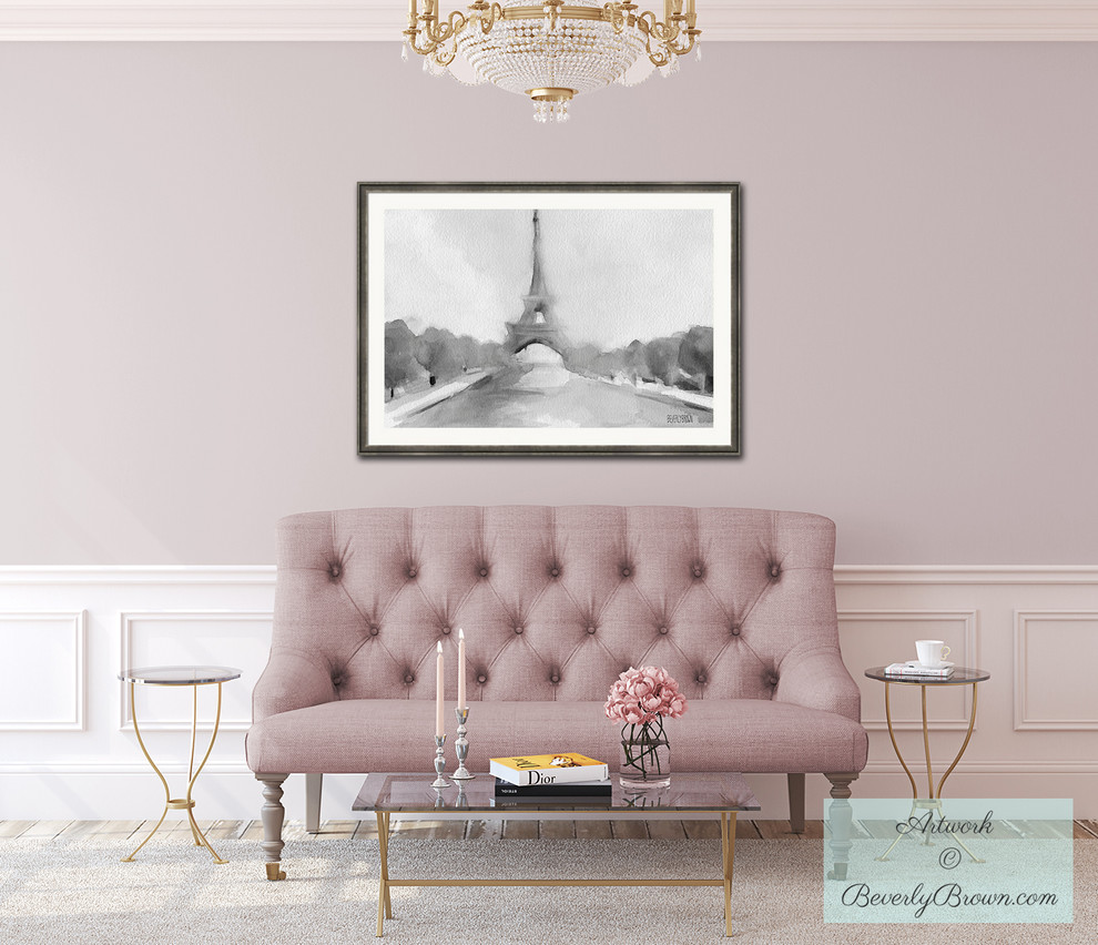 Parisian Baby Nursery Design Pictures Remodel Decor And: Parisian French Girly Feminine Apartment Home Shabby Chic