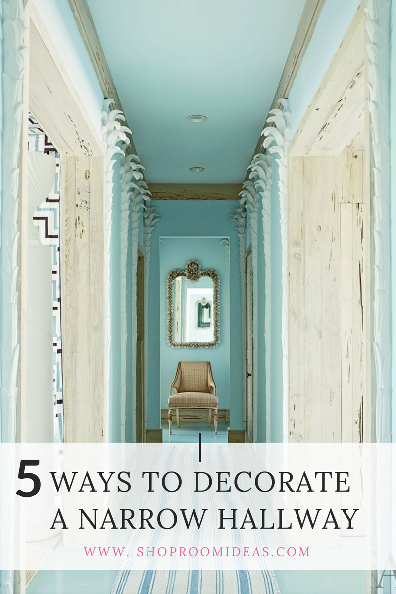 5 ways to decorate a narrow hallway shoproomideas for Wallpaper for home entrance