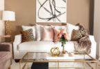 gold-beige-white-leopard-living-room-coffee-table-decor-style-arrangement-furniture-sofa-chair-glass-ghost-furniture-soft-feminine-faux-fur-carpet-modern-glam-simple-shopr-oom-ideas