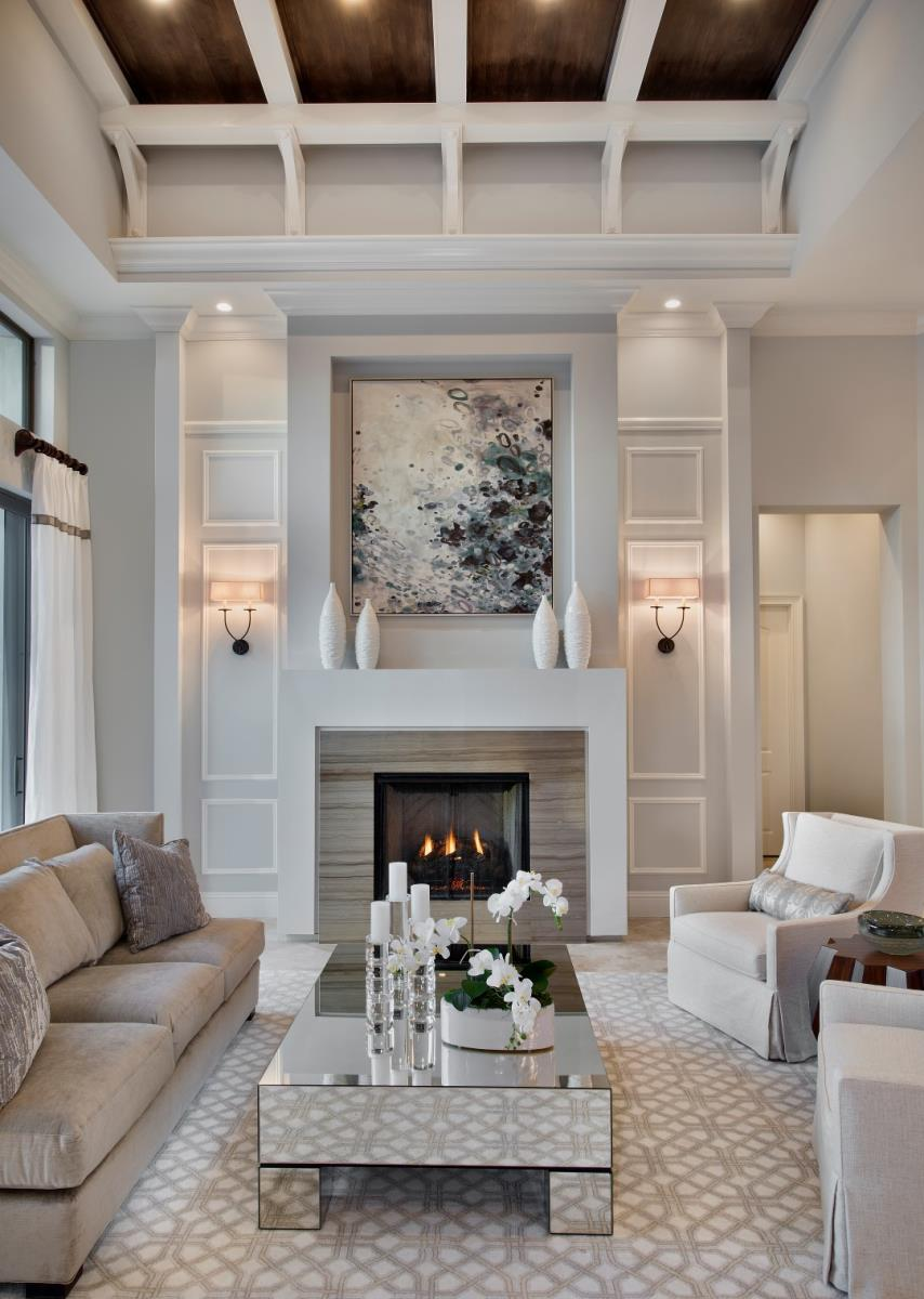 Winter checklist how to prepare your home for winter photos - Living room with fireplace ...