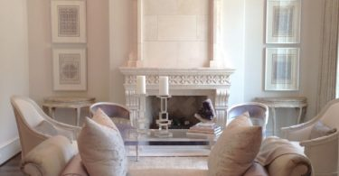 formal living room marble stone fireplace chimney shabby chic chairs dining room furniture inspiraiton decor ideas house