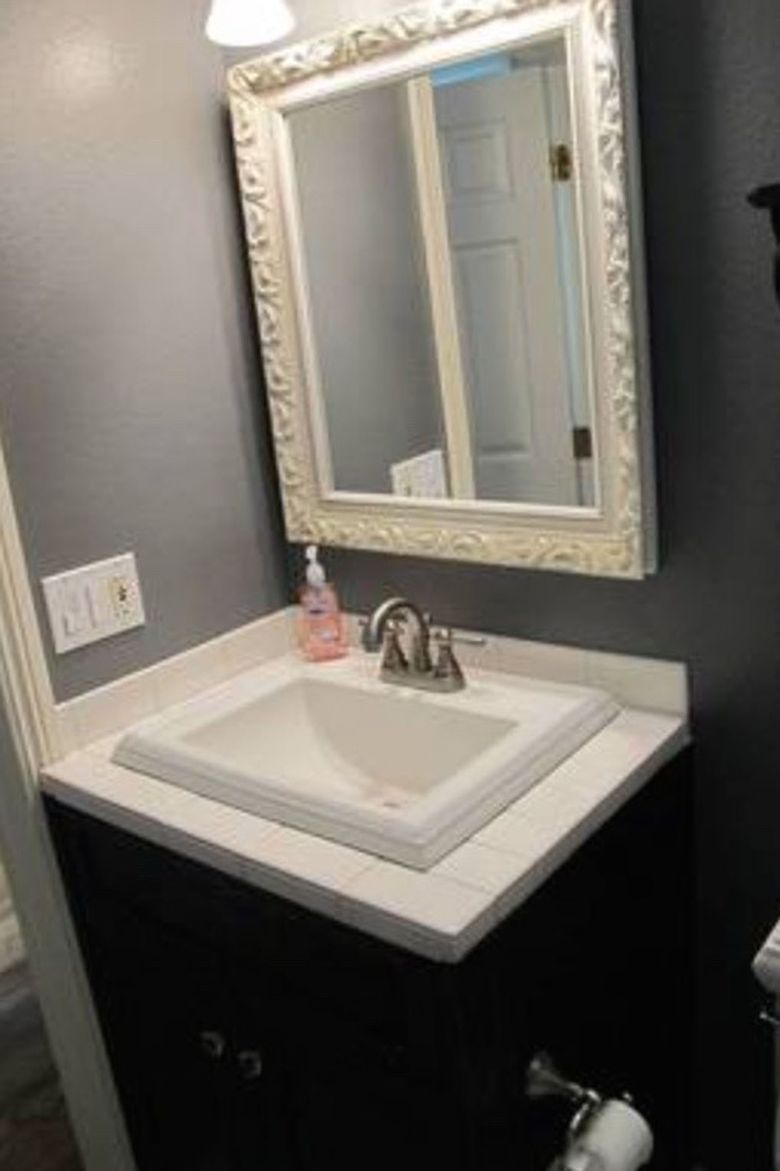 how to small bathroom decorate renovation before and after photos black and gray bathroom