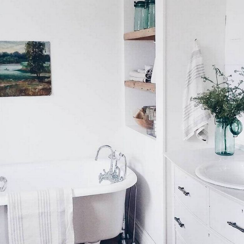 how to small bathroom renovation before and after photos lion claw paw bathtub apartment style decorating all white storage ideas
