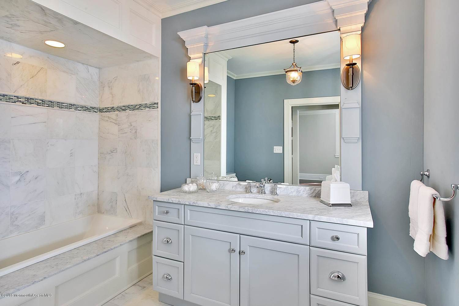marble blue grey gray white bathroom shower vanity ideas inspiration georgian greek revival mansion home house architecture style remodel renovation