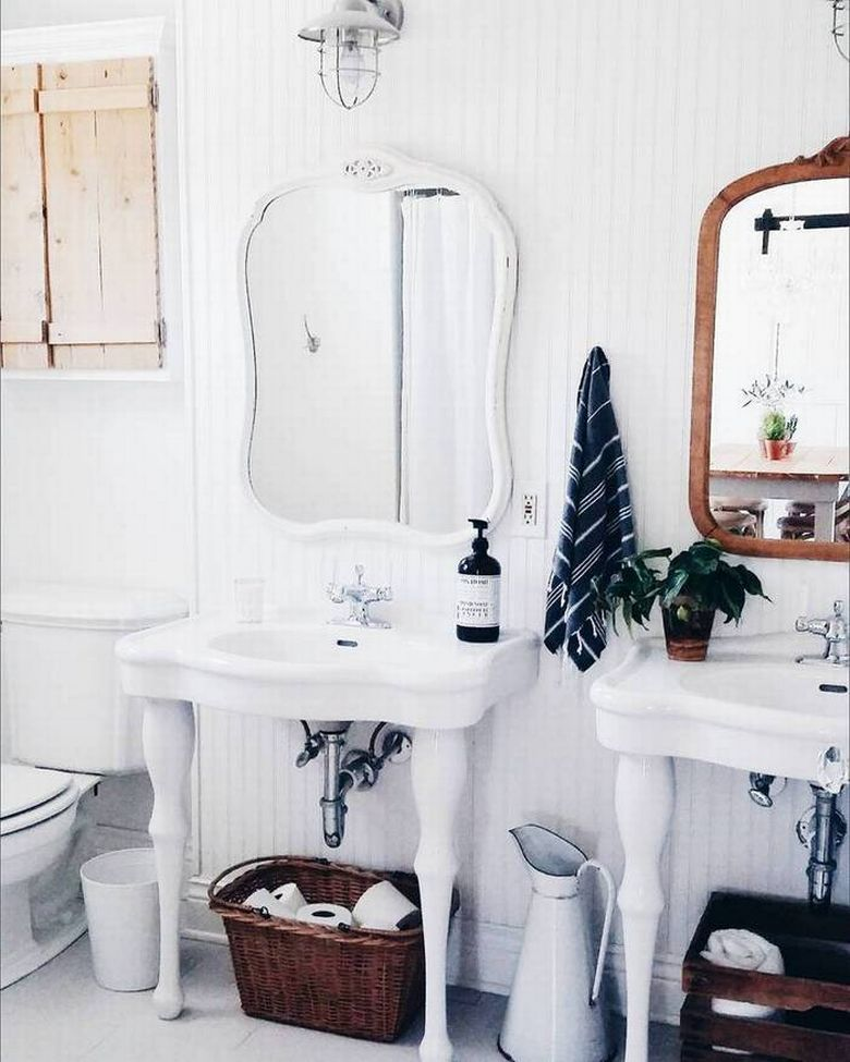 shabby chic country kitchen marble porcelain vanity how to small bathroom renovation before and after photos redesign decorating