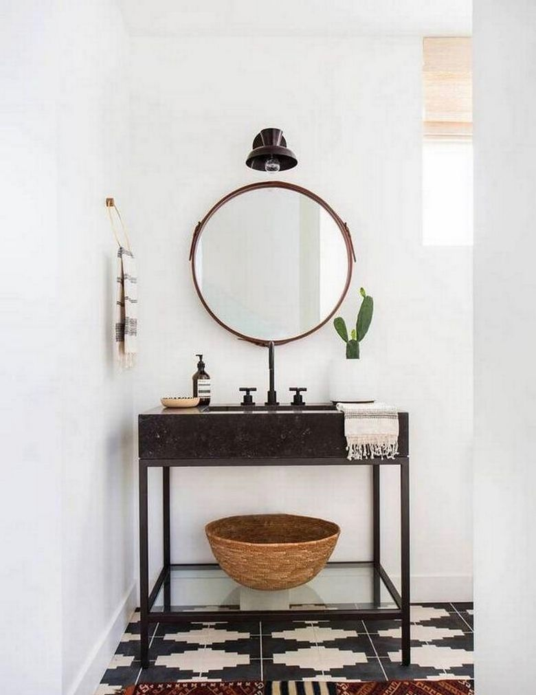 small bathroom renovations before and after how to decorate renovate modern natural white geometric moroccan tile