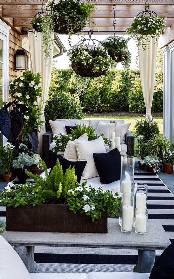 outdoor patio gazebo ideas bohemian garden porch outdoor black white stripe rug natural gardening scandinavian swedish style covered porch shop room ideas