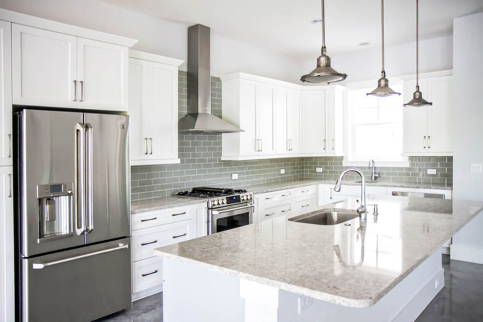 Concrete Kitchen Floor Grey And White Gray Backsplash Ideas Room