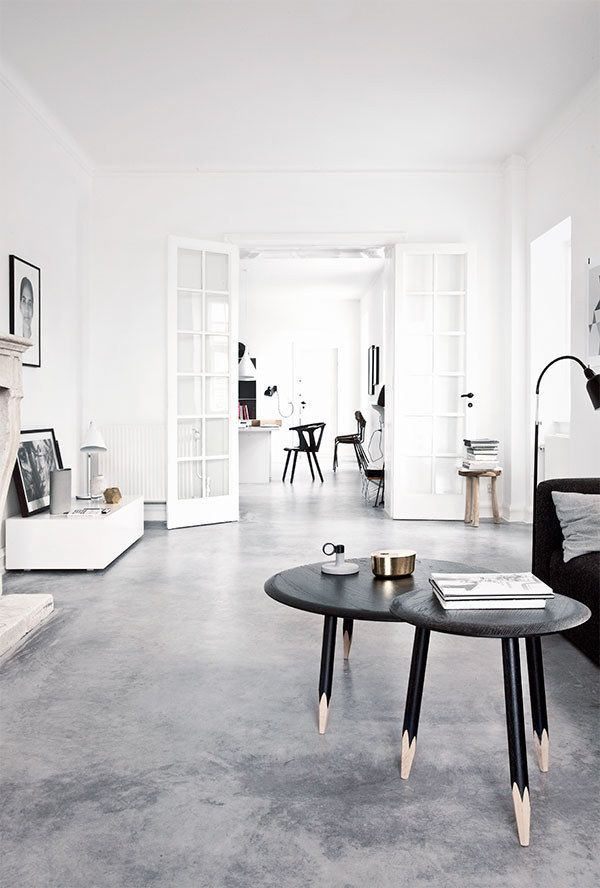 matte concrete polished floor design trends 2018 2019 gray black and white dining room living decor glam masculine style shop room ideas