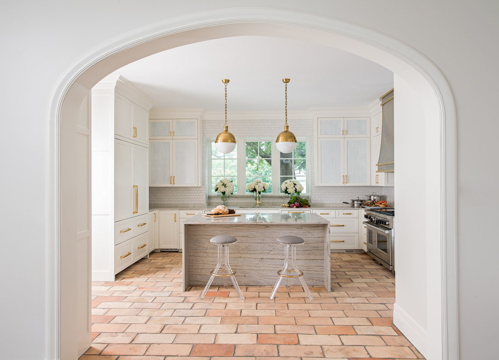 terracotta tiles kitchen all white tuscany french country farmhouse kitchen all white red brown tiles underfloor heating