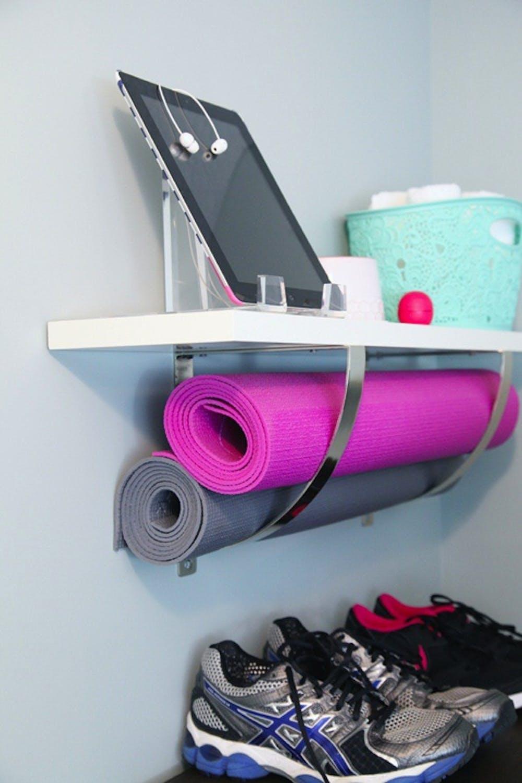 Organized Exercise Room home gym decor inspiration ideas design space meditation room shop room ideas