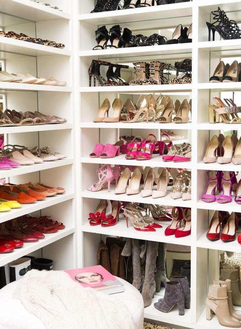 dream celebrity walk in shoe closet organization shelf shelving ideas shop room dieas decor design on a budget ikea hack for closets