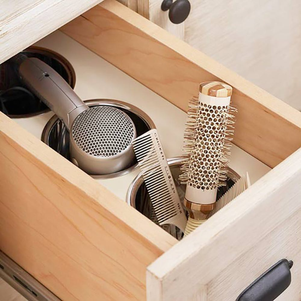 heat style tools bathroom cooling basket storage diy makeup organization hacks diy cheap & heat style tools bathroom cooling basket storage diy makeup ...