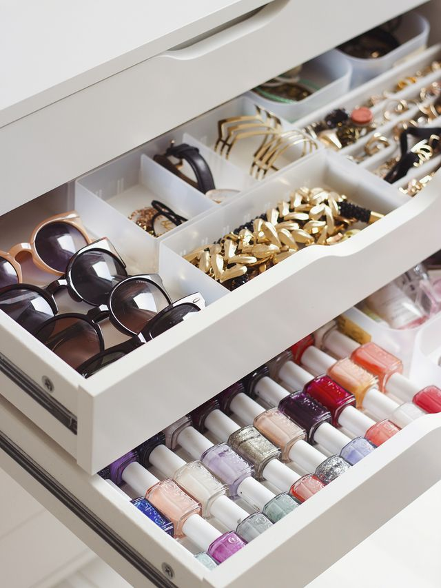makeup drawer dividers storage ideas vanity bathroom organization easy cheap affordable diy