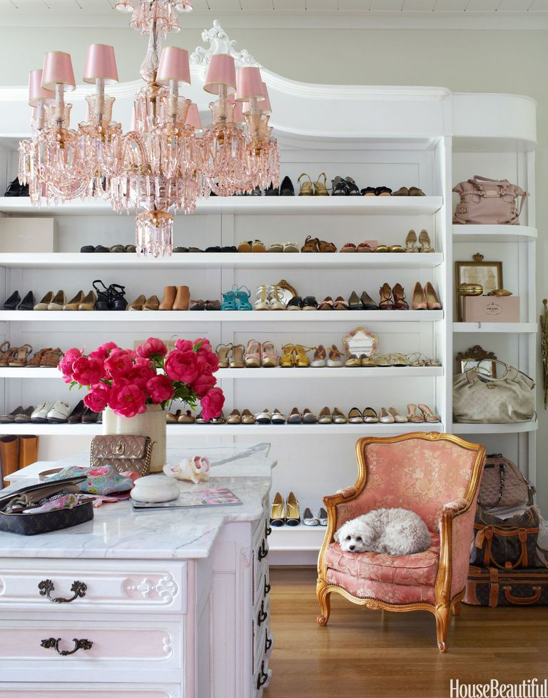 Walk In French Style Closet Shoe Organization Shelf Shelving Hacks Ikea On A Budget Glam Celebrity