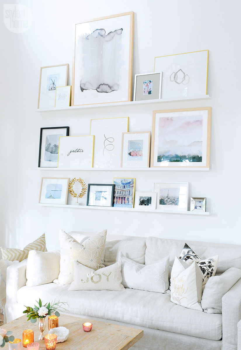 printable wall art gallery wall ideas picture frames shelves ...