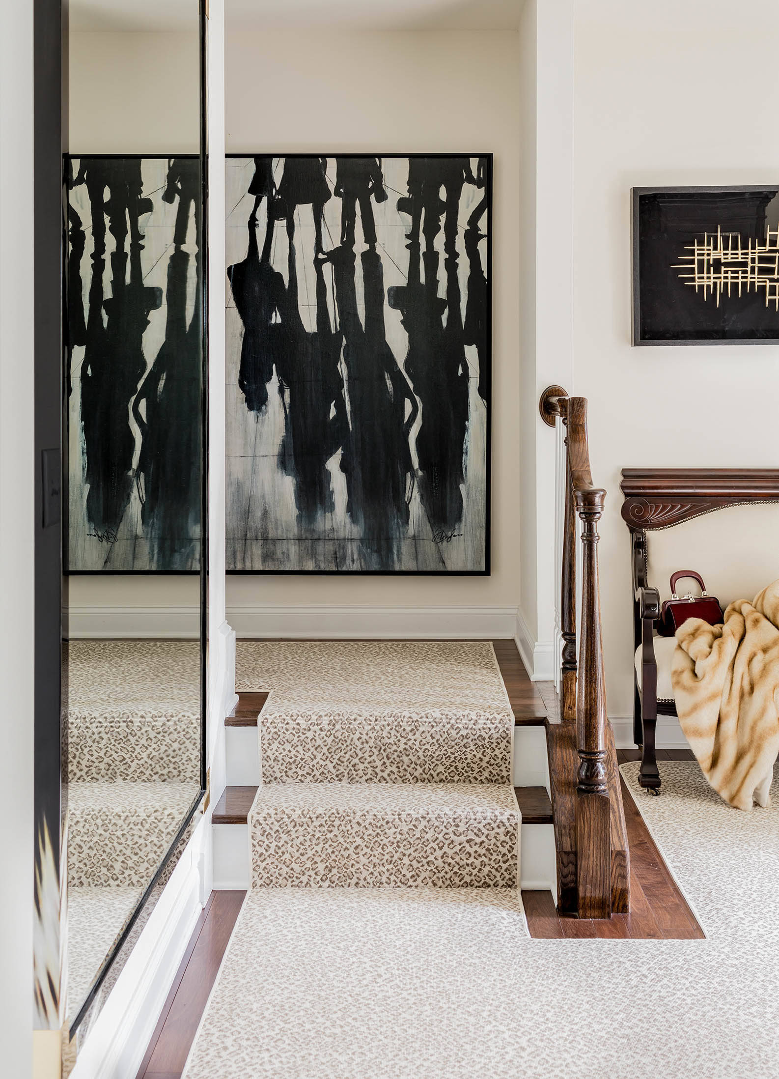 leopard print carpet carpeting flooring ideas modern eclectic traditional painting loft staircase entryway ideas