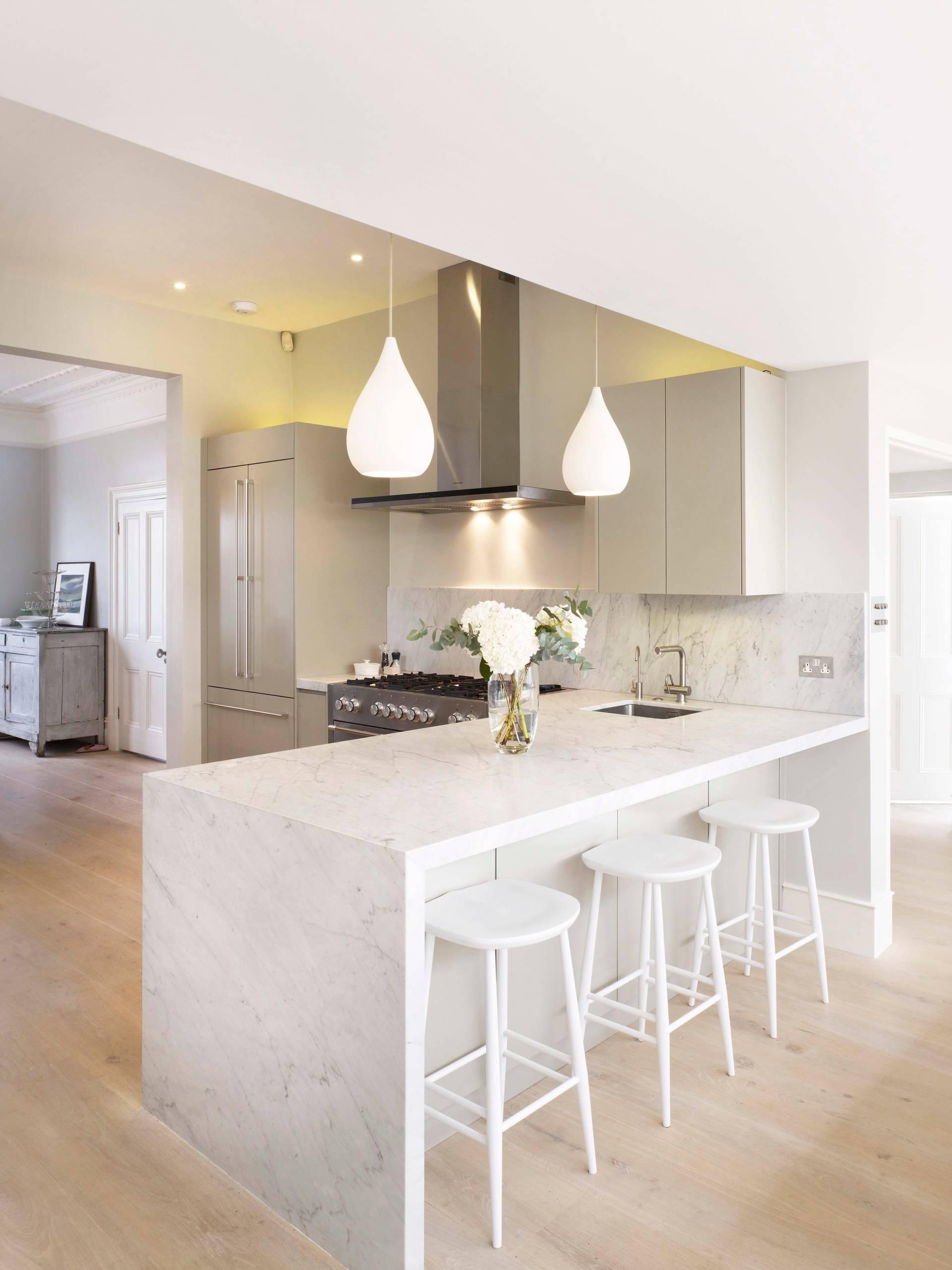 Contemporary Kitchen Marble Backsplash Kitchen Cabinets All