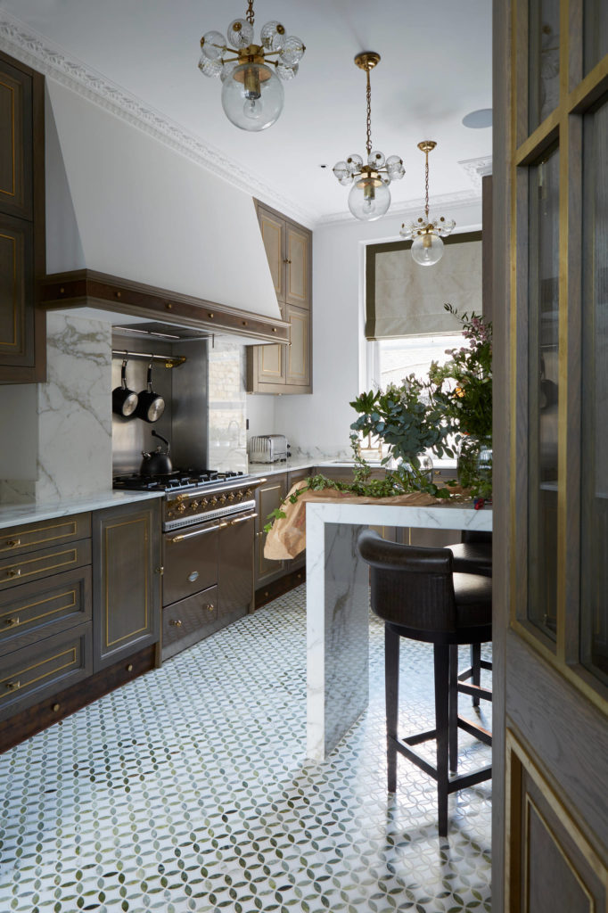 traditional-kitchen marble backsplash different types of best range cookers stove top brown kitchen cabinets